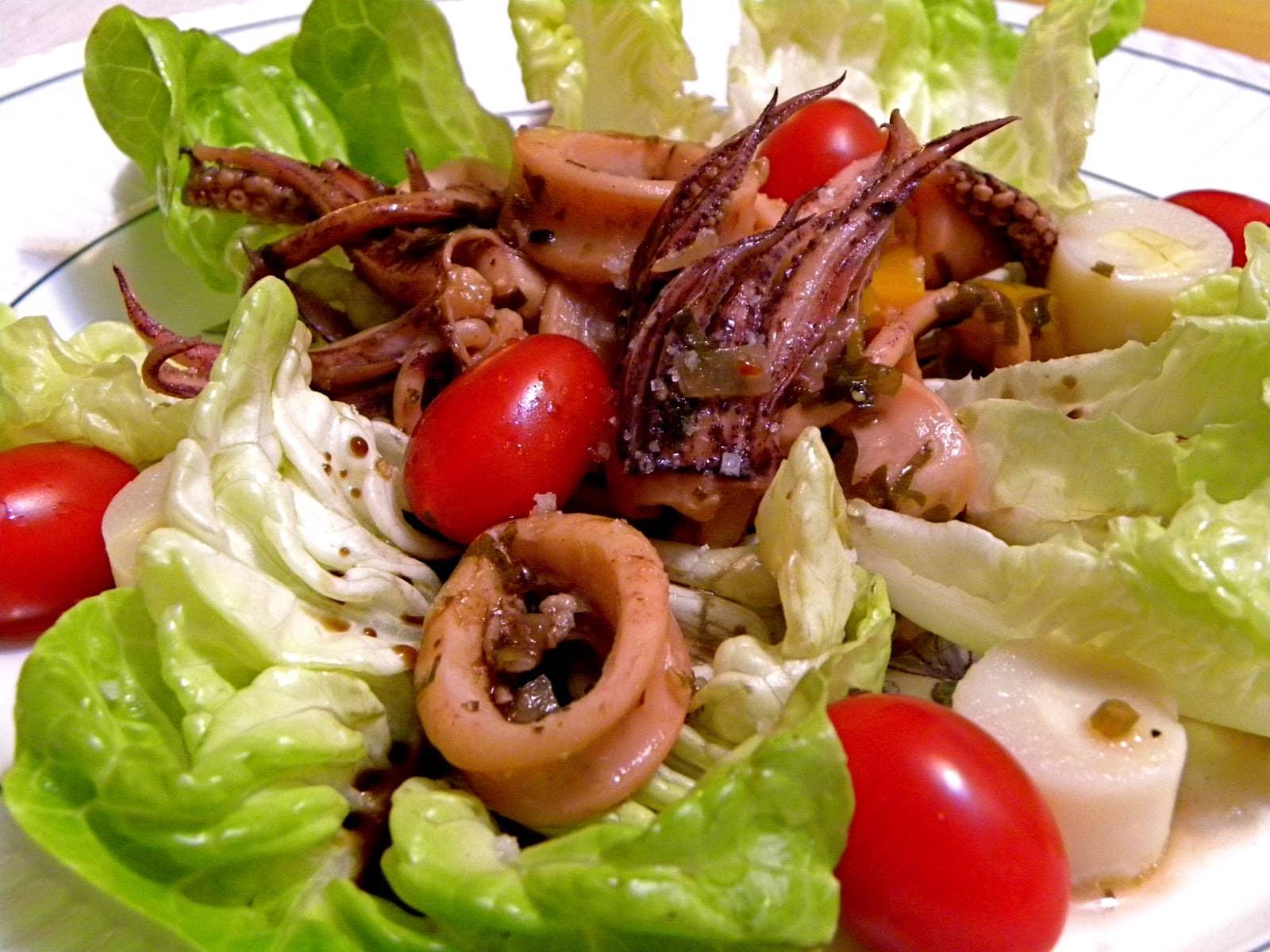 lulas saltadas com legumes