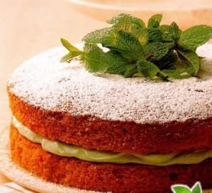 bolo de cafe com creme de hortelan e pimenta