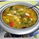 Sopa de Legumes com Manjericão e Natas