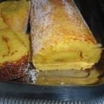 Torta de iogurte, pão e laranja.