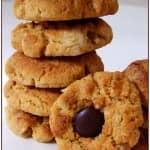 Biscoitos de manteiga de amendoim com chocolate