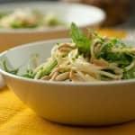 Esparguete com rúcula e pinhões