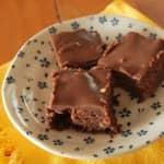 Brownie com ganache