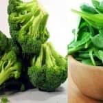 Espinafre e brócolis: