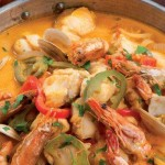 Bifes com molho de camarão