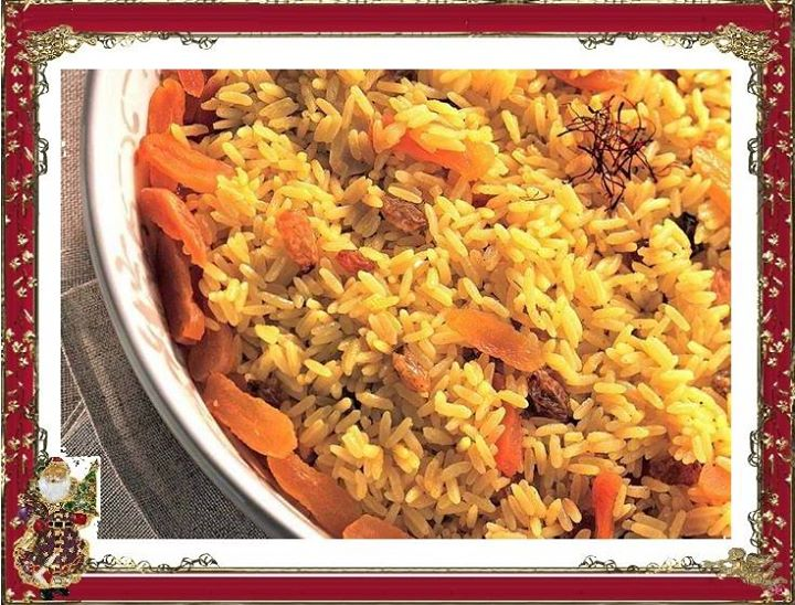 Arroz Integral Misto com Damasco e Açafrão