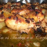 Coxas de frango no forno à Barbecue