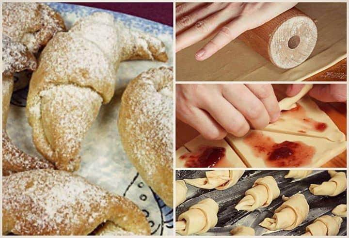 Croissant Recheado Com Geleia