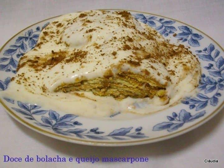 Doce de bolacha e queijo mascarpone