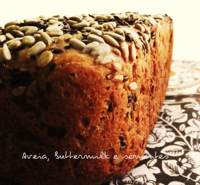 Pão de Aveia e Buttermilk com Sementes