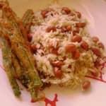 Peixinhos da Horta com Arroz de Feijão Manteiga