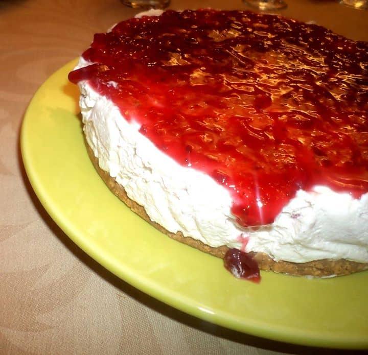Semifrio de Natas com Cobertura de Frutos Vermelhos