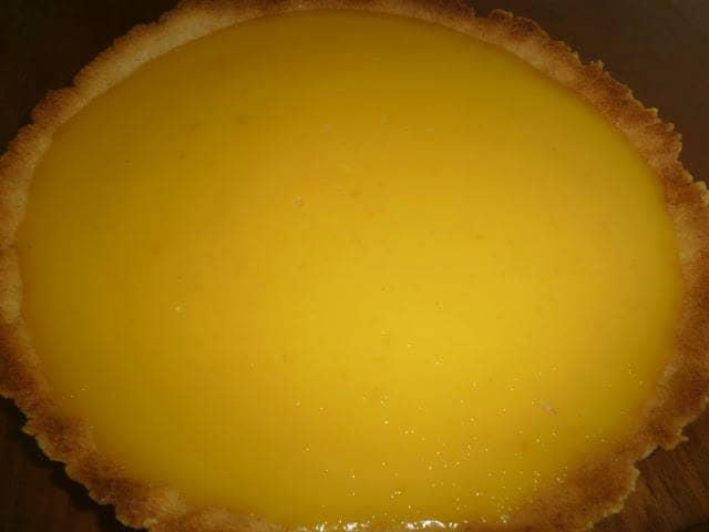 Tarte com curd de limão