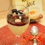 Arroz Doce com Calda de Frutos Vermelhos e Vinho Porto