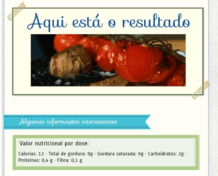 Receita para Diabéticos – Tomates Assados sobre Portobello