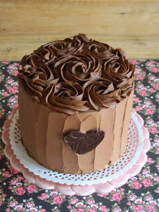 Chocolate ombre layer cake