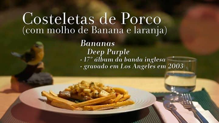 Costoletas de porco (com molho de Banana e laranja)