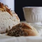 Pão simples de Trigo e Centeio [Amassado à Mão]