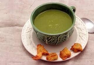 Creme de penca com 'tempura' do caule