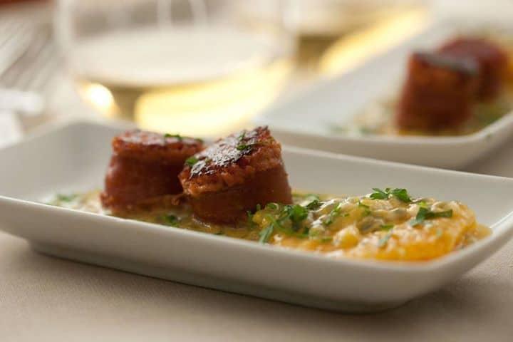 Farinheira com salada de laranja e gengibre: Uma verdadeira tentação para ser partilhada com amigos.