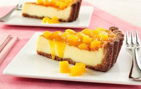 Cheesecake de Maracujá e Manga