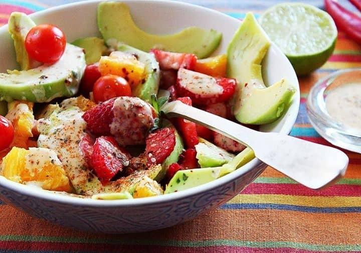 Uma salada cheia de Cor e Sabor
