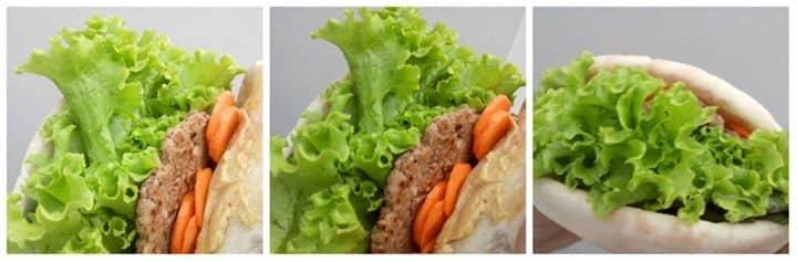 Um Beirut (sanduíche sírio-libanes) em uma versão Vegan