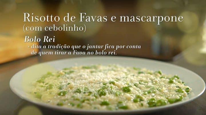 RISOTTO DE FAVAS C/ MASCARPONE