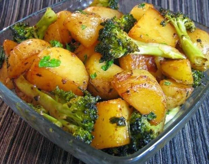 Batatas com Brócolis (Vegana)