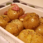 Batatas Assadas Com Alho E Tomilho