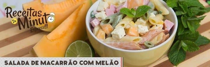 Salada de Macarrão com Melão
