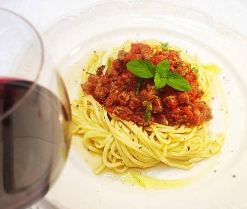 Spaghetti à Bolonhesa