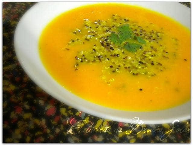 Creme de Cenoura e Quinoa