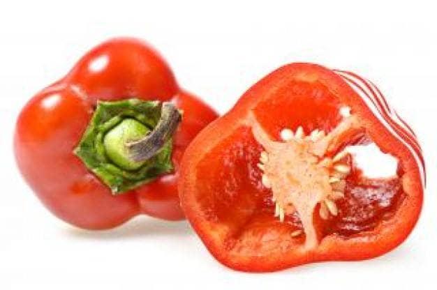 O pimento vermelho e a beleza