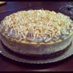 Cheesecake de limão com cobertura de merengue italiano brûlée