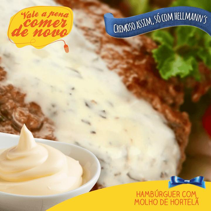 Dê um charme a mais para o seu hambúrguer com esse exótico molho de hortelã!
