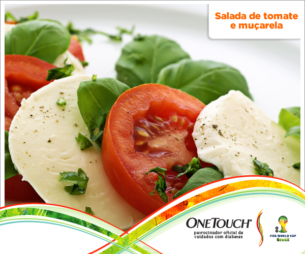 Ótima receita para o almoço: Salada de tomate e muçarela
