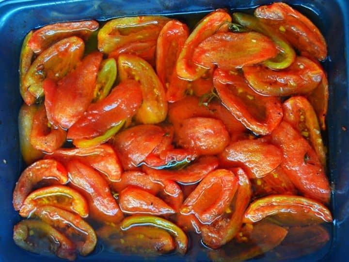 Uma forma diferente de servir tomates