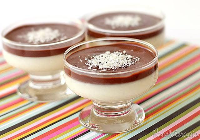 Mousse de Coco com Chocolate