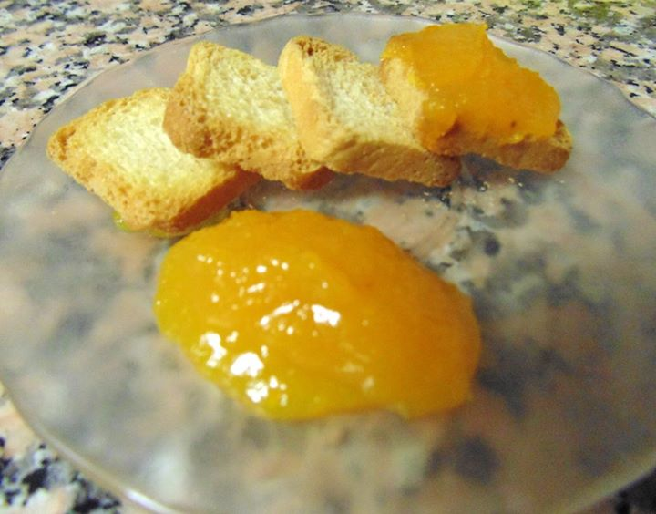 Doce de abóbora e laranja com canela