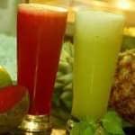 Sumo Verde com maracujá e limão