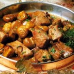 Carne de Porco com Castanhas e Ervas