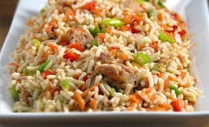 Salada de Arroz Integral com Atum