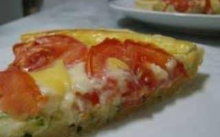 Quiche de Tomates e Abobrinha