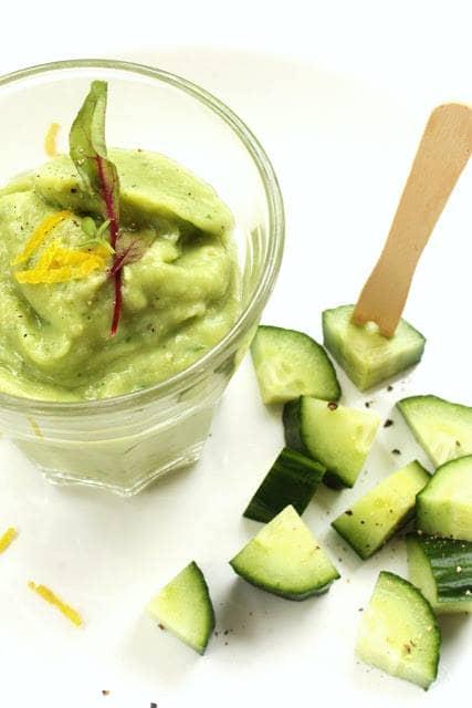 Creme de Abacate e Pepino - Green cold soup