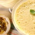 Mousse de maracujá com gelatina