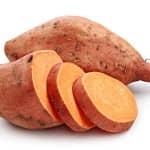 sopa de batata-doce e coco