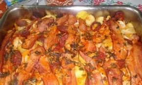 Bacalhau com Bacon e Chouriço