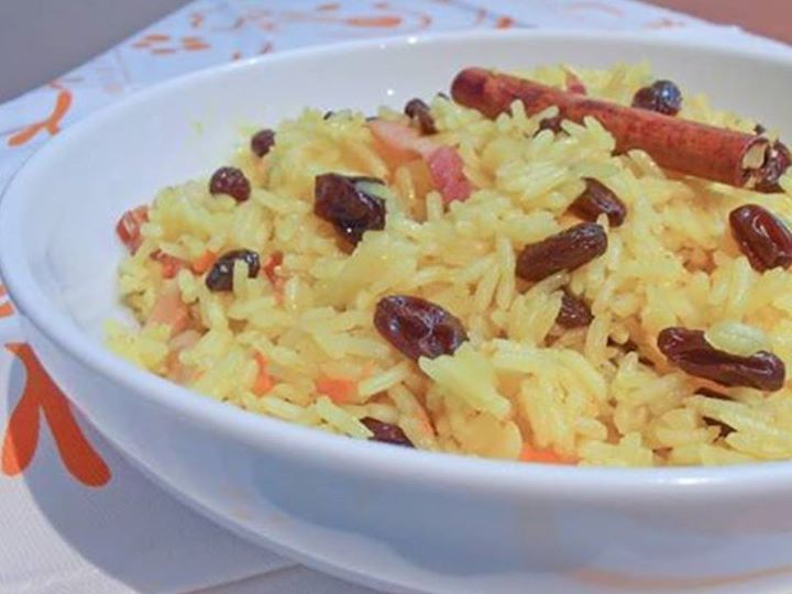 Arroz de Especiarias e Frutos Secos