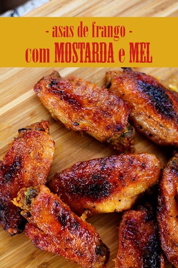 Asas de frango com mostarda